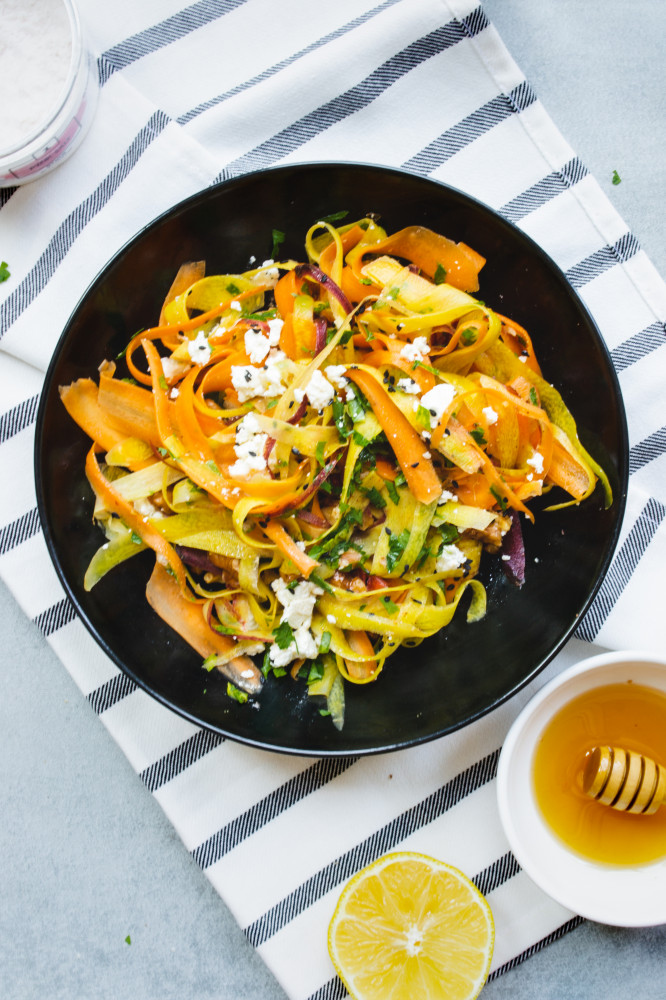Carrot Ribbon Salad with Turmeric and Ginger